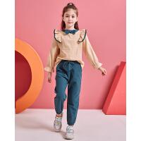 木木屋女童套装2021新款儿童春装洋气小女孩两件套韩版时髦春夏套装