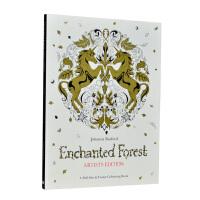 Enchanted Forest ARTIST'S EDITION魔法森林涂鸦画画减压绘本涂色上色本