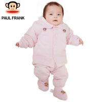 PWU1742032大嘴猴(Paul Frank)婴儿新生儿棉衣棉服长袖对襟 花纱单面布套装