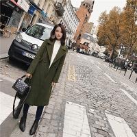 呢子大衣女中长款韩版2018新款秋冬季时尚气质羊毛妮子毛呢外套
