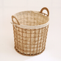 大号洗衣篮复古草编整理收纳筐日式脏衣篓藤编脏衣服收纳筐脏衣篮