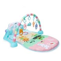 婴儿踢踏琴新生儿健身器宝宝踢踏钢琴健身架婴儿玩具0-1岁3-6-12个月 l动物园