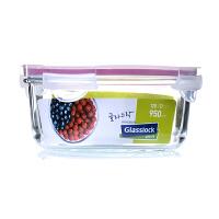 Glasslock 三光云彩韩国进口钢化玻璃保鲜盒微波饭盒收纳盒便当盒保鲜盒/碗950ml RP536