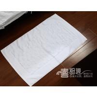 家用厨房卫浴室防滑地垫巾卫生间地巾纯棉加厚吸水厕所门垫踩脚垫 白色 鹅卵石 500MM×800MM