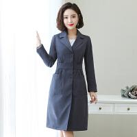 2019春秋季流行新款外套女韩版修身时尚中长款小个子女式风衣女装