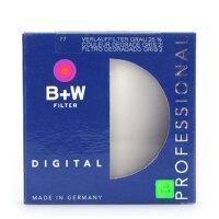 B+W 77mm 渐变灰镜 25% 中灰 滤镜 减少2级曝光 正品