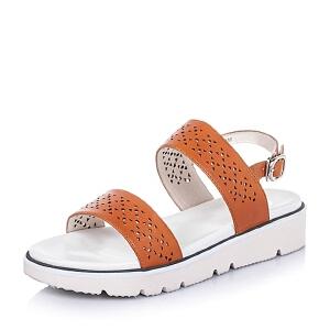 Bata/拔佳夏季牛皮时尚镂空女凉鞋APR22BL6