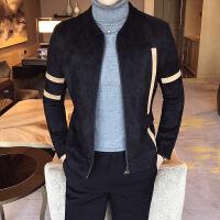 新款秋冬新品青少年男夹克学生休闲男装外套帅气修身个性短款夹克