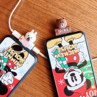 边充电边听歌 二合一卡通苹果xs max耳机转接头一拖二转换器