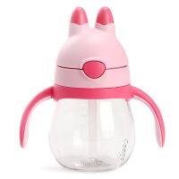 膳魔师吸管杯 儿童水杯 兔子杯 宝宝饮水杯 婴儿学饮杯 防漏 带手柄杯子