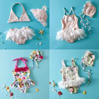 新款儿童泳衣女童泳衣分体连体泳衣小孩宝宝公主泳衣