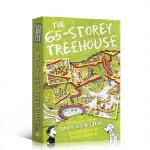 顺丰包邮 英文原版绘本The 65-Storey Treehouse小屁孩树屋历险记 65层树屋 插图漫画章节故事书