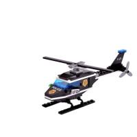 启蒙兼容乐高积木消防警车飞机儿童男孩玩具幼儿园机构礼物批发 123 侦查直升机
