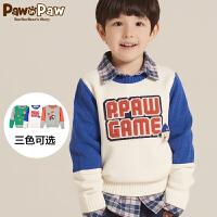 【秒杀价:100元】Pawinpaw宝英宝卡通小熊童装冬季款男童毛衣