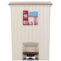 [当当自营]顺美 16L垃圾桶 欧式方形脚踏翻盖 卫生桶 SM-2608