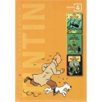 【全店300减100】英文原版漫画小说 The Adventures of Tintin 4丁丁历险记第4卷