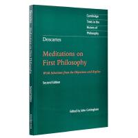 【中商原版】笛卡尔:哲学沉思录 剑桥哲学史经典文本丛书 英文原版 Descartes: Meditations on First Philosophy