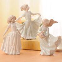 创意欧式摆件家居饰品人物客厅摆设装饰品陶瓷小摆件新房礼品礼物
