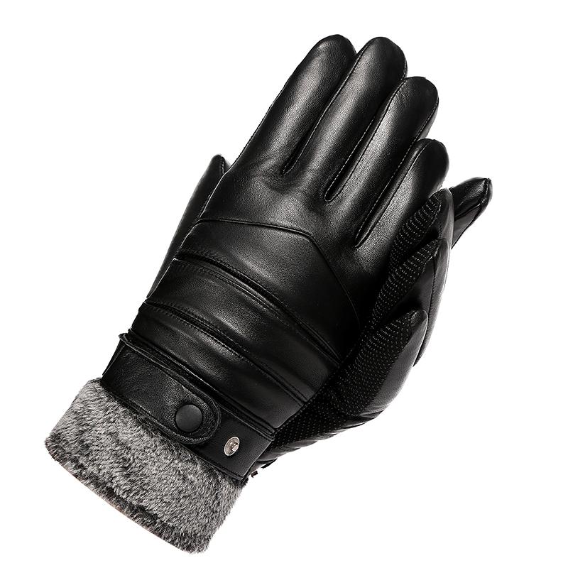 皮手套男冬季骑行触屏户外摩托车棉手套