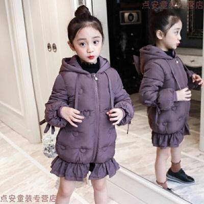 女童棉衣2018新款韩版羽绒冬季中长款宝宝洋气中大童棉袄外套 发货周期:一般在付款后2-90天左右发货,具体发货时间请以与客服协商的时间为准
