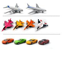 仿真金属回力小汽车套装组合迷你合金儿童玩具车模型男孩 全套14款 4车4巴士4战机2客机