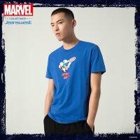 [618提前购专享价:37.9元]真维斯男装 2020夏季新款 时尚漫威复仇者联盟圆领短袖印花T恤