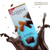 进口godiva歌帝梵咸焦糖牛奶巧克力排块砖片90g休闲零食进口巧克力排块【加冰袋+泡沫箱 发货】