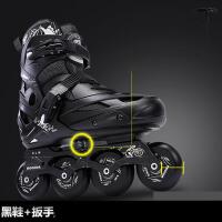 旱冰鞋滑冰儿童全套装可调直排轮滑鞋初学者男女溜冰鞋成年