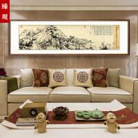 富春山居图客厅沙发背景墙现代装饰画国画山水书房挂画中式墙壁画SN7146
