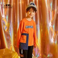 【2件3折到手价:53.4元】小虎宝儿男童长袖t恤纯棉打底衫2020春装新款儿童圆领体恤上衣潮
