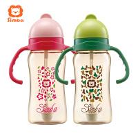 宝宝水杯6-18个月 辛巴PPSU重力球吸管杯婴儿学饮杯
