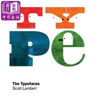 【中商原版】Typefaces打印的脸 绘本故事2016克莱奥银奖字母字体艺术