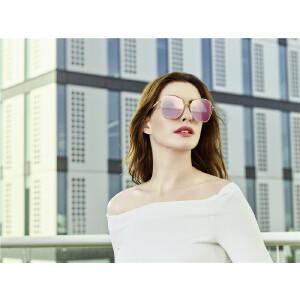BOLON暴龙2018年新款太阳镜金属框墨镜女时尚个性圆脸眼镜BL7011