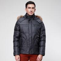 鸭鸭(YAYA)2018新款羽绒服 正品男装 男士加厚羽绒服保暖冬装A-318