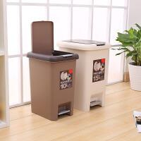 【领券立减10元】创意家用塑料脚踏垃圾桶办公室客厅收纳桶厨房按压带盖清洁垃圾筒