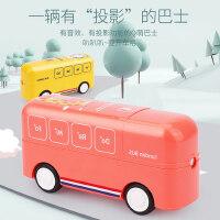 宝宝惯性小汽车迷你巴士2岁3声光音乐早教启蒙投影儿童益智玩具车
