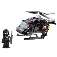 拼装积木直升机飞机儿童拼装玩具模型