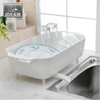 双庆 厨房置物架碗架塑料沥水盘杯碟架多功能沥水架置物架1081