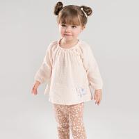戴维贝拉秋冬装新款女童套装 宝宝休闲长袖套装DB7381