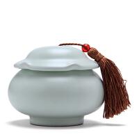 陶瓷茶叶罐珠圆玉润半斤装密封罐普洱绿茶花草茶罐