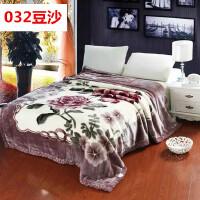 拉舍尔毛毯双层加厚冬季盖毯双人结婚庆大红绒毯春秋单人毯子* 200x240 12斤 送包装