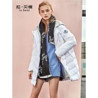 【3折到手价:288】拉贝提羽绒服女新款中长款秋冬季韩版反季白鸭绒时尚外套欧货