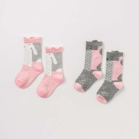 戴维贝拉春装新款女童中筒袜宝宝卡通袜子DB8869