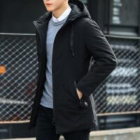 外套男棉衣冬季2018新款韩版潮流中长款棉袄冬装衣服男装羽绒