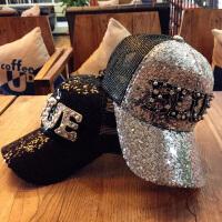 镶钻亮片新款春季帽子女士夏季休闲棒球帽韩版百搭时尚潮流春秋鸭舌帽