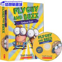 【全店满300减80】苍蝇小子英文原版 15册附CD音频 Fly Guy Buzz Deluxe 儿童趣味英语 简单梁读书读物