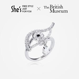 【大英博物馆正版授权】She's茜子 荷鲁斯之眼戒指 开口指环
