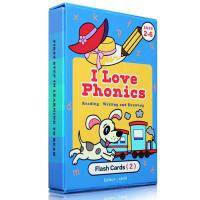 英文绘本 I Love phonics L2自然拼读 英语启蒙幼儿认知学习闪卡 0-3-6岁
