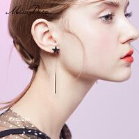 冷淡风星星长款耳环女显脸瘦时尚耳坠几何耳饰气质耳线