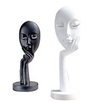 家居饰品树脂抽象人脸摆件简约现代客厅壁柜电视柜装饰摆设